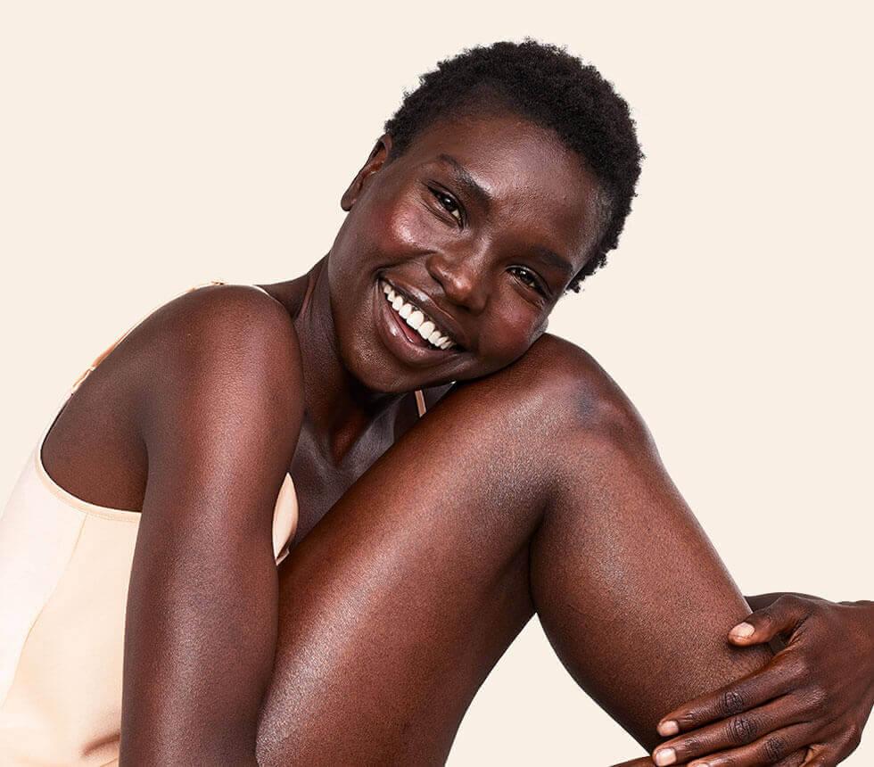 smiling aveeno woman